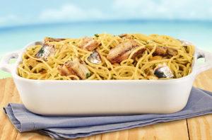 Espaguete Alho e Óleo com Sardinha