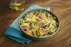 Salada de Acelga com Sardinha Limão