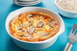 Omelete de Forno com Sardinha